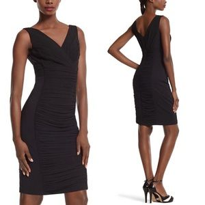 7859cb67686 White House Black Market · WHBM Instantly Slimming Ruched Sheath Black Dress